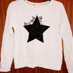 H&M hvid bluse m stjerne str 158-164 cm 12-14 år