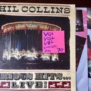Phil Collins serious hits live vinyl lp plader god stand