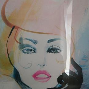 Unik Elle styleawards plakat fra 2017 med ramme i træ med glas. Sælges kun samlet og ved afhentning måler 50*70