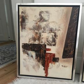 OIL PAINTING ~ ARTIST: ANDRÉ MILLER  NP: 800KR.- PR. STK ~ samlet 1600kr for ny!  H* 55 B* 44