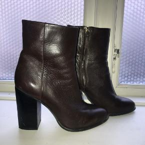 Brown leather boots from h&m in a size 39.