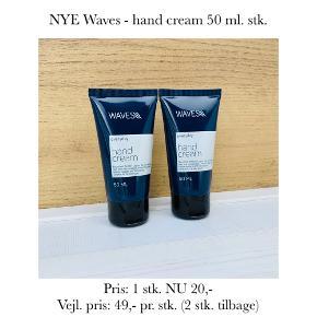 NYE Waves - hand cream 50 ml. stk.   Pris: 1 stk. NU 20,-  Vejl. pris: 49,- pr. stk. (2 stk. tilbage)   Se også over 200 andre nye produkter, som jeg har til salg herinde :-)