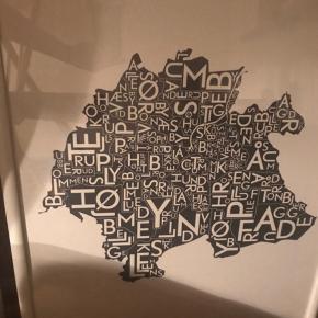 ODENSE plakat, 40x55 cm, hvid ramme medfølger  Byd