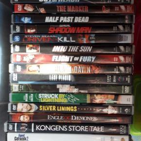 32 stk. Forskellige dvd film. Set 1 gang.