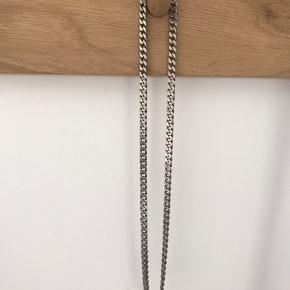 Panserkæde, sølv, 50 cm lang, 0,5 cm bred