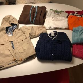 Tøjpakke str: 68.  -3 par bukser -2 cardigans  -3 langærmet bluser  -4 bodystockings  -1 varm hyggedragt -1 sommerjakke