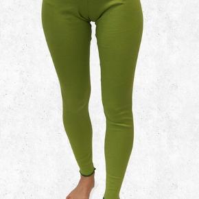 Øko-bomuld, smaltstribede leggings (lime/grøn), indvendig benlængde 80, taljevidde 80-96