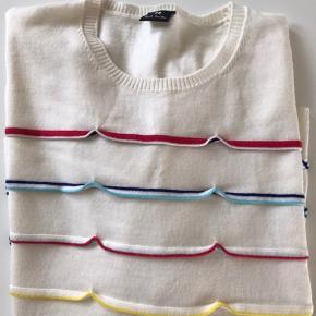Lækker trøje i 100% uld. Brugt een gang, så jeg tillader mig at skrive at den er helt ny.
