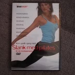Dvd med 35 min pilates undervisning, dvd'en er i folie