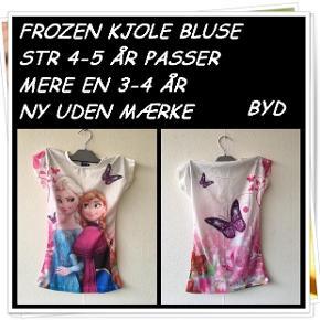 Frozen kjole bluse str 4-5 år passer mere en 3-4 år ny uden mærke byd