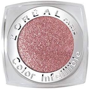 En vandfast øjenskygge fra L'Oreal med 24 timers holdbarhed og god pigmentering. Colour Infallible fra L'Oréal Paris er den første fløjlsagtig pulver øjenskygge med en formel, der indeholder 40% bindende olie og 60% pulver perlemor shimmer og stærke pigmenter.Holder op til 24 timer.Color Infallible er en med en mat finish og er en vandfast øjenskygge, der kan modstå gnidning og samler sig ikke i de fine linjer omkring øjnene. Farve: 004 Forever Pink  Kun brugt 2 gange. Giv et bud