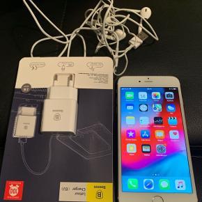 Iphone 6 plus 16 gb virker som den skal ,,, meget velholdt oplader og hørertelfoner følger med,, desværre har ikke kvittering eller æsker