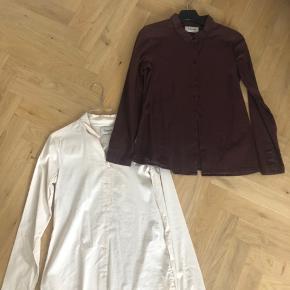 Klassiske skjorter fra Ganni i stretch stof.   Bordaux er god men brugt  Creme farvet næsten som ny