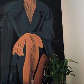 Stort flot maleri på kvalitetslærred