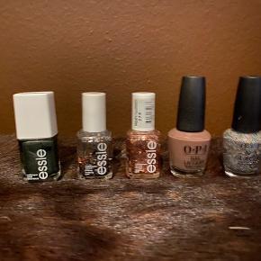 Essie og opi neglelakker til salg. Spørg efter farve,  nummer og stand.   Sælges billigt !