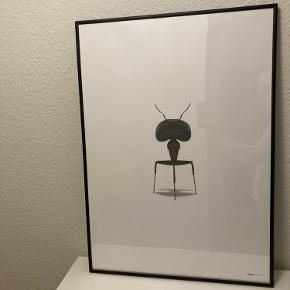"""Sælger mit billede """"myren"""" da jeg er flyttet og ikke kan finde plads til det.  Sælges med ramme til 250,-.  Kan afhentes i Hobro."""