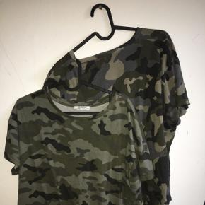 Sælger to armyfarvet t-shirts. Den ene er fra zara og den er fra na-kd  Ingen af dem er brugt.  Tag dem begge for 100kr ellers er prisen pr. t-shirt 75 kr.   Str. S