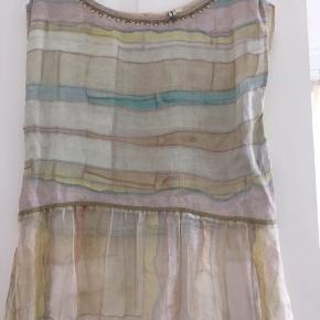 Super fin top, tunika uden ærmer. Passer str 36, s  Farver: rosa, hvid, svag grøn, grå m.m.