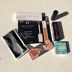 "Følgende skønhedsprodukter: 💄💋  *Benefit ""BAD gal BANG"" sort mascara  *Benefit ""Brow Volumizing Fiber Gel"" *Fenty Beauty ""Instant Retouchere Concealer *Kat Von D ""Lovecraft"" Lipstick *Marc Jacobs ""Gel Eye Crayon 42 Black""  *Natasha Denona ""5 Eyeshadow Palette"" *Winky Lux ""Mermaid Kitten Palette - Ursula""  BEMÆRK: Nogle af produkterne er travelsize. Sælges kun som samlet sæt.   Byd gerne kan enten afhentes i Århus C eller sendes på købers regning 📮📩"