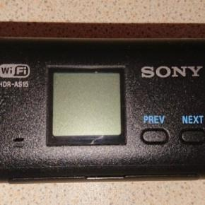 Sony Hdr-as15 action kamera  Vandtæt ned til 60m Brugt, men fejler intet