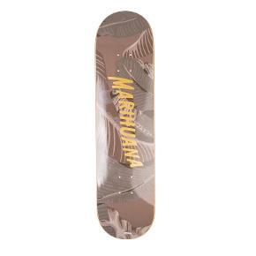 """Meget sjælden første kollektion Palm Angels skate deck. Med grip tape i guld og """"Marihuana"""" printet i guld bogstaver. Super cool samlerstykke. Nypris 2.300.   Det har et par enkle mærker fra opbevaring på undersiden, men udover det, helt ny stand. Jeg har smidt dustbag væk."""