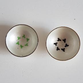 2 smukke saltkar i sterlingsølv med glas i perfekt stand sælges for 150 kr pr stk
