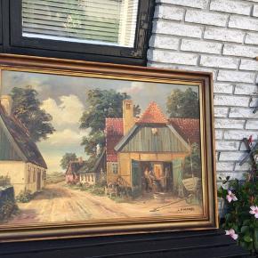 Billed Maleri Oliemaleri  Bredte:109 cm Højde:81 cm K.Wernerd