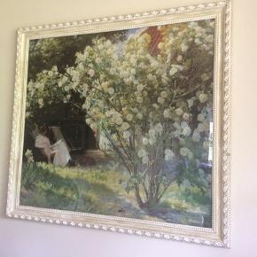 Krøyer reproduktion i glas og lækker ramme. Bredde:125 cm, højde:114 cm.