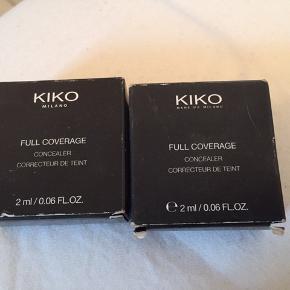 Kiko Milano full coverage concealer Nr: 3  2 stk. Sælges for 50kr pr stk og 90kr samlet  I original emballage Aldrig brugt