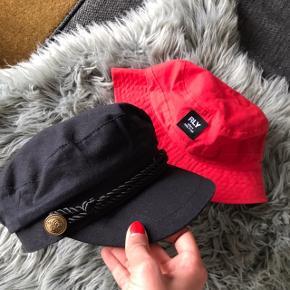 En fed rød bøllehat 💗 Og en super fin sort hat 💗