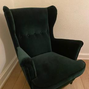 Lækker lænestol fra Ikea. Flot grøn i velour 💚