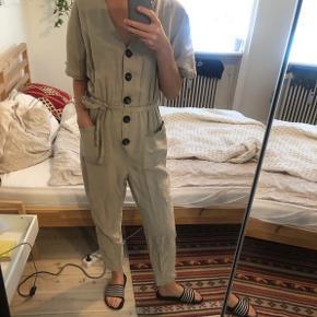 beige jumpsuit