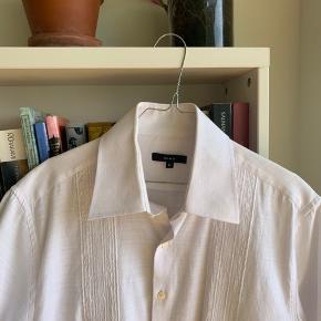 Vintage hvid kortærmet skjorte :)