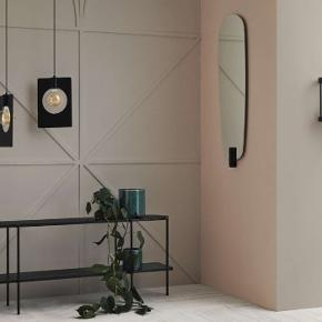 Bolia Tellina mirror. Materials: glass, tree.  Weight: 9.8 kg. D53CM, B8cm, H121cm. The mirror will reflect you in full height. Brand new, unused and undamaged in original box. Never unpacked and 100% sealed. Receipt present. At least 3 years of warranty left. New price 2300. This item will not be shipped due to high weight and risk of being broken.