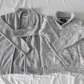 2 trøjer str 134-140 Grå Brugte men pæne  Fra røgfrit og dyrefrit hjem  40 kr pr stk. Begge for 65 kr i alt