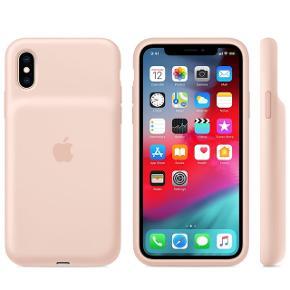 Apple Battery Case til iPhone X eller XS. Brugt i få måneder.  Kan lade din telefon op på farten.  Nypris 1200 kr  Har fået ny telefon, så du får et Marc Jacobs cover med i prisen :)