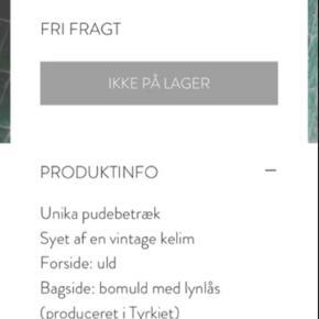Kelimpude. Kan sendes - men bliver foldet/rullet, så den passer i mål. Eller hentes i Århus c.