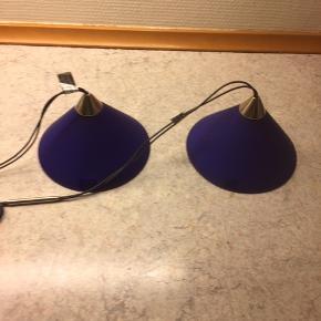 Blå/koboldt blå herstal pendler til stift pære  Næsten som ny ingen skår