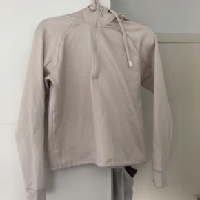 Råhvid trænings hoodie fra H&M