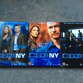 CSI:NY sæson 1-3: 350 kr. - Jeg er åben overfor bud.  Tingene kan afhentes i Odense C, Fredericia eller Børkop. Ved forsendelse betaler køber for porto.  Kontakt mig her eller på SMS: 20158587