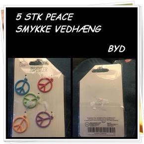 5 stk peace smykke vedhæng nyt byd