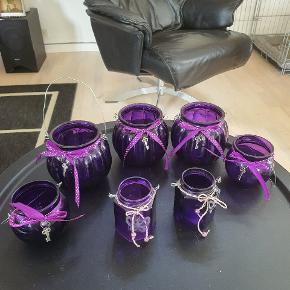 Fine lanterner sælges  Der er 3 store 2 lidt mindre og 2 kantede 💜🌺🌻🌺 Er som nye  De er rigtig flotte rundt om terrassen 🦋🦋