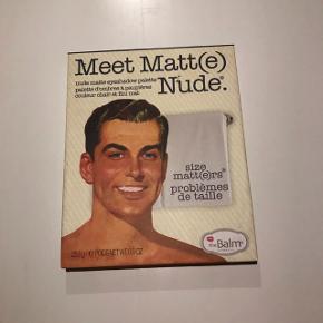 Sælger denne Meet Matt(e) Nude øjenskygge palette fra The Balm Nypris: 289 kr