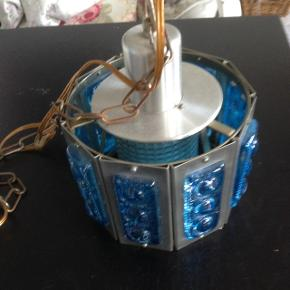 Fin Svensk Orefors loftlampe. Ø 20 H 15 cm.