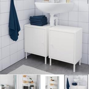 Toiletskab fra IKEA, næsten ikke brugt. Ben købes separat.  Mål: se sidste billede   Købspris: 200,- Nypris: 100,-  Kan afhentes i Brønshøj
