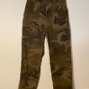 Camouflage pants with short leg