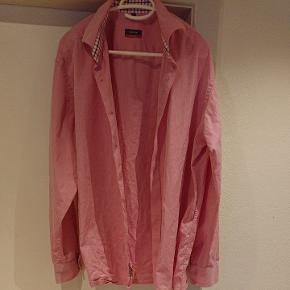 Pink eterna modern fit skjorte 100 % bomuld