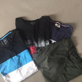 Ens for alle brugt 1 gang  Vasket 1 gang  4 stk tshirt Str XL Mærker; Tommy Hilfiger og Black rebel  Sælges samlet