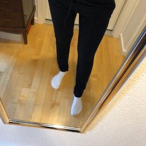 Mørkeblå leopard jogging bukser