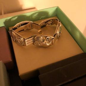 Meget smukt vintage sølv armbånd
